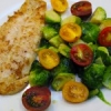 Swai Fillet With Brussels Sprouts & Heirloom Tomatoes